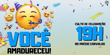 CELEBRAÇÃO CARVALHO 01.08 ÀS 19H ingressos