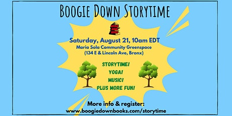 Boogie Down Storytime at Maria Sola Community Greenspace (August 21) tickets