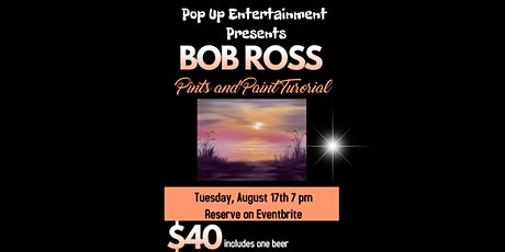 Bob Ross Pints and Paint tickets