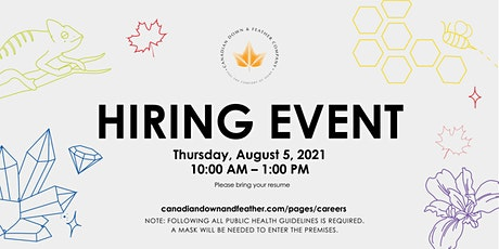 Hiring Event - Canadian Down & Feather Company tickets