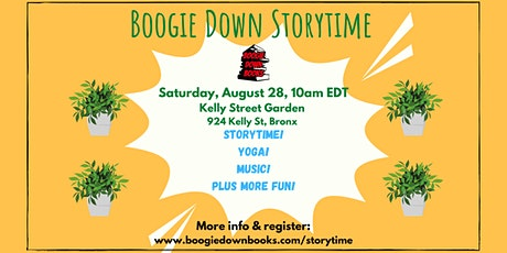 Boogie Down Storytime at Kelly Street Garden (August 28) tickets