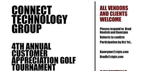 Connect Technology Group's 4th Annual Golf Tournament tickets
