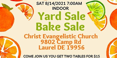 Yard Sale/ Bake Sale tickets