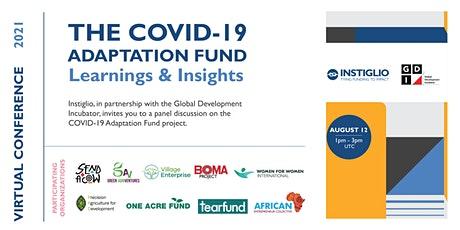 COVID Adaptation Fund Learning and Insights tickets