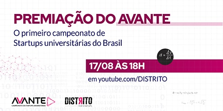 AVANTE: O primeiro campeonato de startups universitárias do Brasil entradas