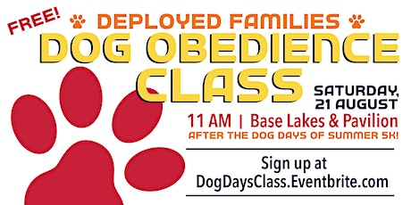 EAFB - Dog Days of Summer Obedience Class tickets