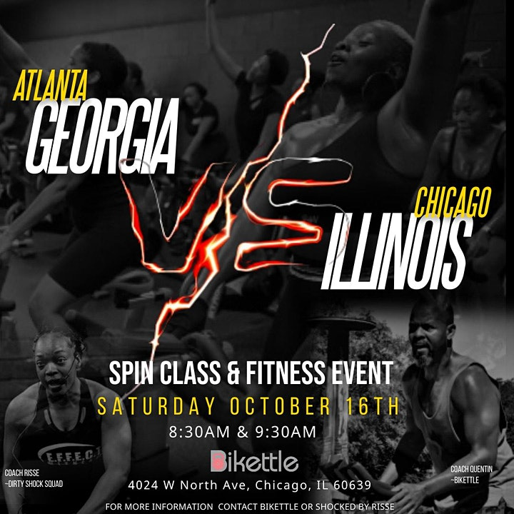Atlanta vs. Chicago Spin Fitness Event image