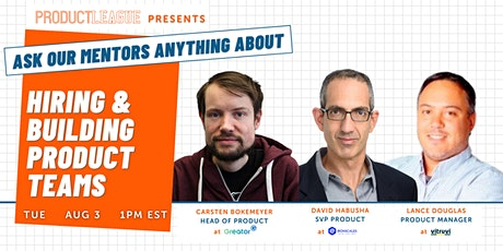 Hiring and Building Product Teams | #AskMeAnything tickets