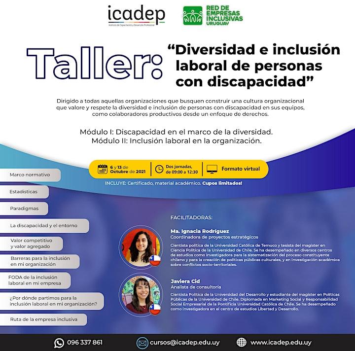 """Imagen de Taller: """"Diversidad e inclusión laboral de personas con discapacidad"""""""