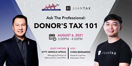 Ask The Professional: Donor's Tax 101 tickets