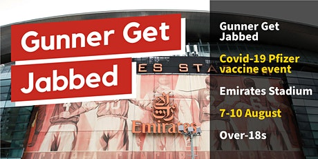 Covid vaccination at Emirates Stadium 7-10 August, 9.30am - 6.30pm tickets