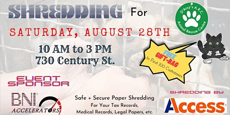 Shredding for Charity - D'Arcy's Animal Rescue tickets