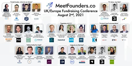 MeetFounders UK-Europe [August 2nd] Fundraising Conference tickets