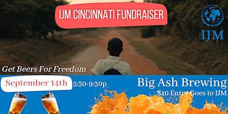 IJM Cincinnati Fundraiser @ Big Ash Brewing tickets
