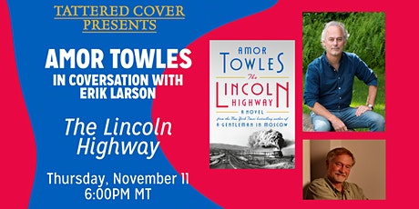 Live Stream with Amor Towles in Conversation with Erik Larson tickets