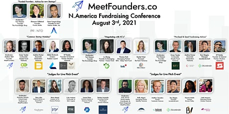 MeetFounders North America [August 3rd] Fundraising Conference tickets
