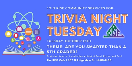 Trivia Tuesday: Are You Smarter Than a 5th Grader? (October) tickets