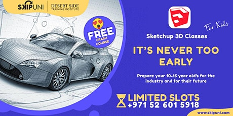 Free Crash Course on SketchUp 3D for Teens tickets