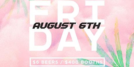 Fiction Fridays @ Fiction | Fri Aug 6 | $400 Booth tickets