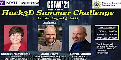 NYU Summer Hack3D Finals tickets