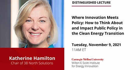 Distinguished Lecture - Katherine Hamilton, 38 North Solutions tickets