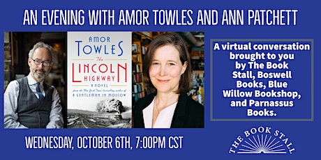 An Evening With Amor Towles and Ann Patchett tickets