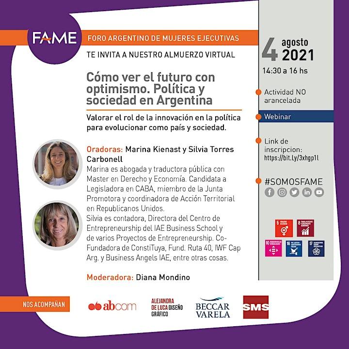 Imagen de Cómo ver el futuro con optimismo. Política y sociedad en Argentina