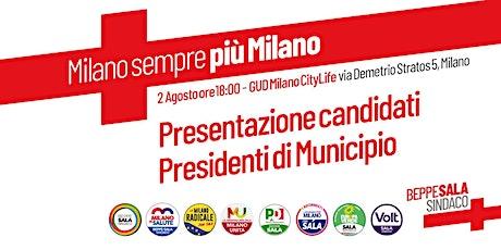 Presentazione candidati Presidenti di Municipio biglietti