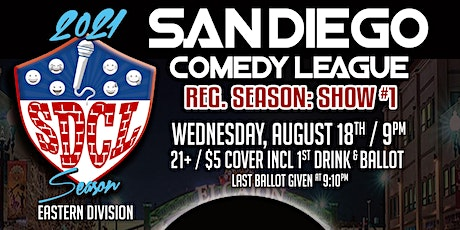 San Diego Comedy League Show at The Grand, Wed. 8/18 , 9pm tickets