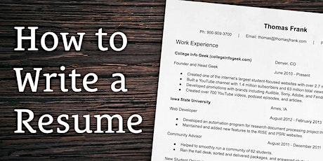 Free Resume Writing Workshop tickets