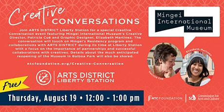 ARTS DISTRICT Creative Conversation Featuring Mingei International Museum tickets
