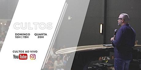 CULTO DOMINGO À NOITE - 18H - 01.08 ingressos