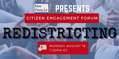 Redistricting Citizen Engagement Forum tickets
