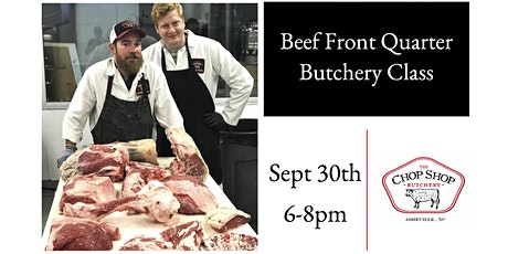 Beef Front Quarter Butchery Class tickets