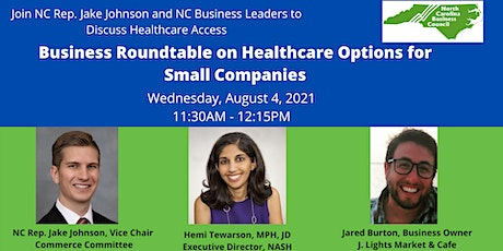 Virtual Business Roundtable on Healthcare Options for Small Companies tickets
