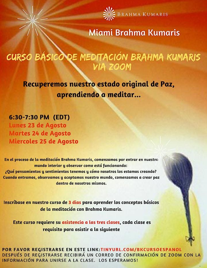 Curso Básico de Meditación Raja Yoga en Español (Miami) image