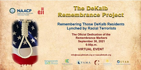 """NAACP DeKalb Remembrance Project """"Virtual"""" Closing Ceremony tickets"""