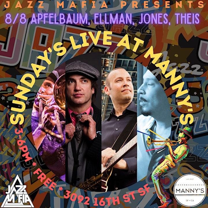 Jazz Mafia Presents Sundays Live @ Manny's: Apfelbaum, Ellman, Jones, Theis image