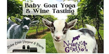 Baby Goat Yoga & Wine Tasting at Bishop Estate Vineyard and Winery tickets