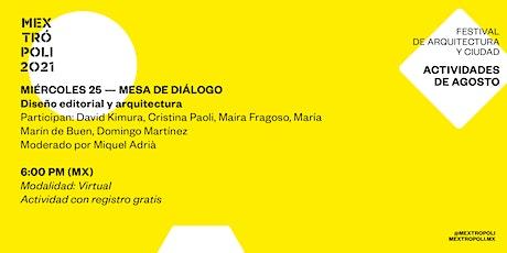 MESA DE DIÁLOGO |Diseño editorial y arquitectura boletos
