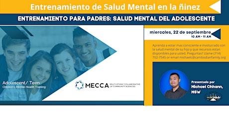 Capacitación en salud mental para adolescentes y niños adolescentes tickets
