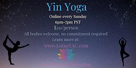 Sunday Evening Yin Yoga tickets