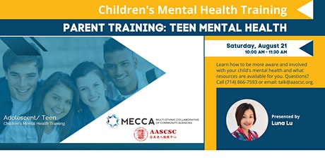 Teen Mental Health Training for Parents tickets