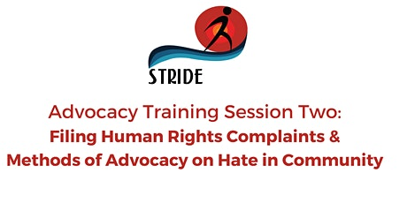 Filing Human Rights Complaints  & Methods of Advocacy on Hate in Community tickets