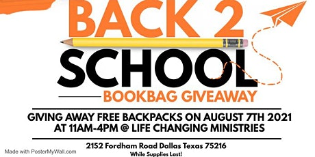 Back to School Giveaway and Health Fair tickets