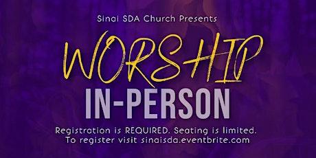 Sinai SDA In-Person Church Service 11:30 AM tickets