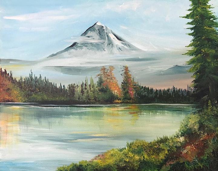 Chill & Paint Friday Night  Auck City Hotel  - Bob Ross Mountain & Lake! image