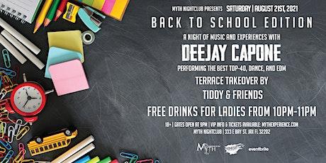 Saturday Night - BACK TO SCHOOL at Myth Nightclub | Saturday 08.21.21 tickets
