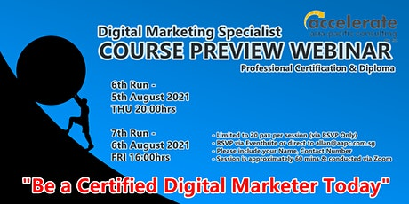 Course Preview - Professional Certificate in Digital Marketing 6th Run tickets