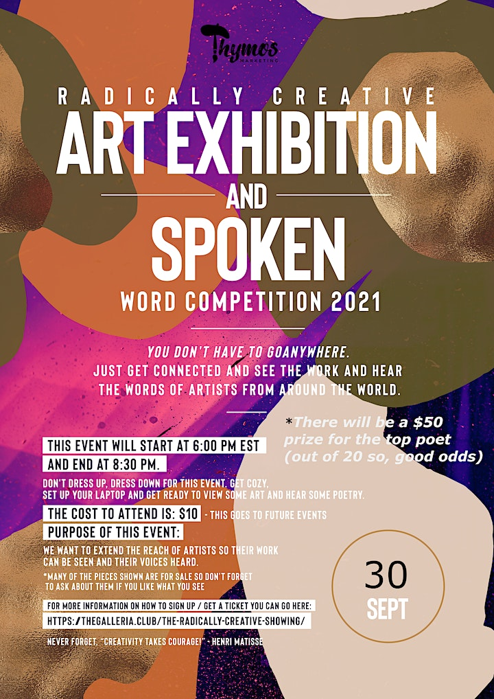 The Radically Creative Art Exhibition and Poetry Slam Competition image
